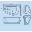 БЭЛЛА 1400*760 [левая, правая], акриловая ванна