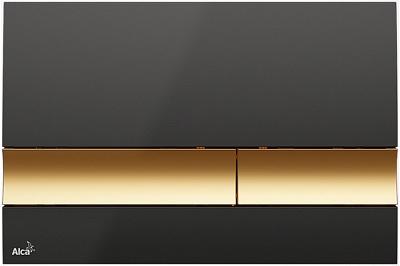 M1728-5 Кнопка управления (Черная/золотая)